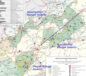 Pisgah Forest Map